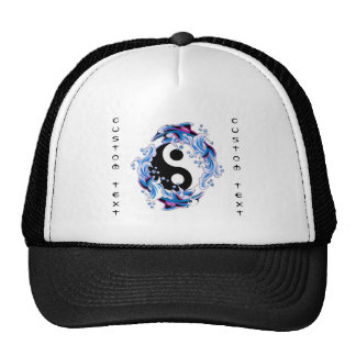 Golfinhos legal de Yin Yang do símbolo do tatuagem Bonés