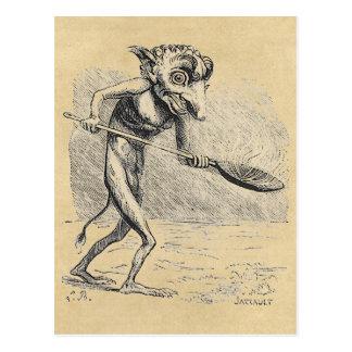 Gollum agita o caldeirão cartão postal