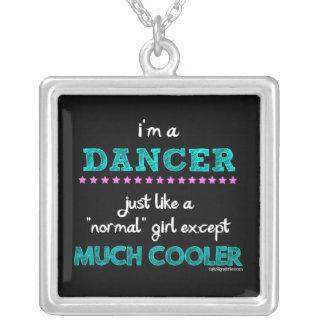Golly meninas - eu sou um dançarino colar banhado a prata