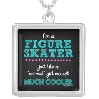 Golly meninas - eu sou uma figura patinador colar banhado a prata