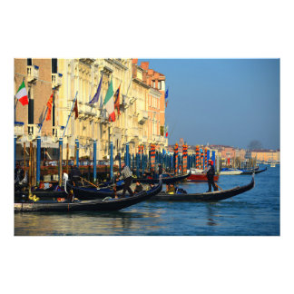 Gôndola de Veneza, Italia Impressão De Foto
