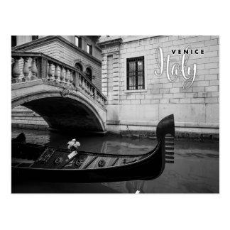 Gôndola em Veneza Italia Cartão Postal