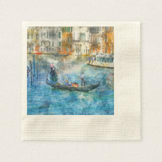 Gôndola no canal grande de Veneza Italia Guardanapo De Papel