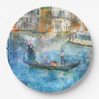 Gôndola no canal grande de Veneza Italia Prato De Papel