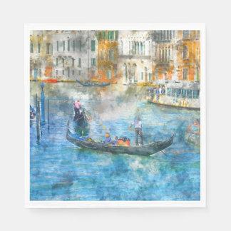 Gôndola no canal grande em Veneza Italia Guardanapo De Papel