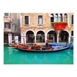 Gondolier em Cannaregio Impressão De Foto