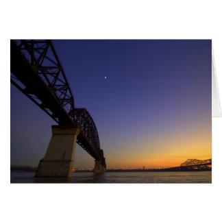 Goodnight lua cartão comemorativo