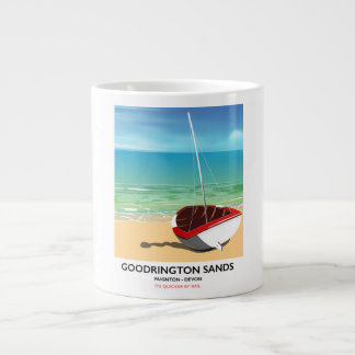 Goodrington lixa o poster das viagens vintage de caneca de café gigante