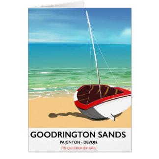 Goodrington lixa o poster das viagens vintage de cartão comemorativo