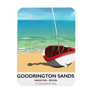 Goodrington lixa o poster das viagens vintage de foto com ímã retangular