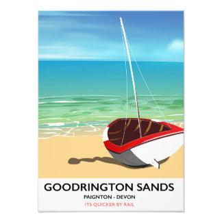 Goodrington lixa o poster das viagens vintage de impressão de foto