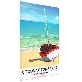Goodrington lixa o poster das viagens vintage de impressão em tela
