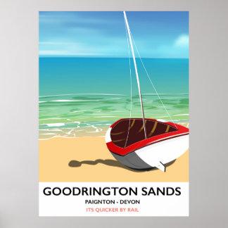 Goodrington lixa o poster das viagens vintage de pôster