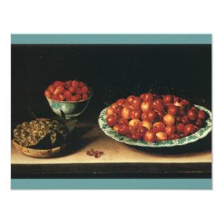 Gooseberries das morangos das cerejas de Louise Convite 10.79 X 13.97cm