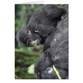 Gorila de montanha infantil cartão de nota