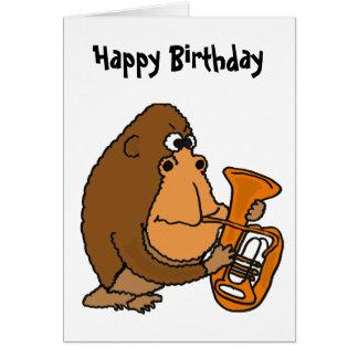 Gorila do BR que joga o cartão de aniversário da