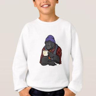 Gorila do hipster agasalho