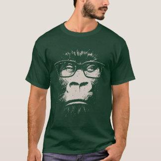 Gorila do hipster com vidros camiseta