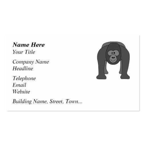 Gorila dos desenhos animados modelos cartao de visita