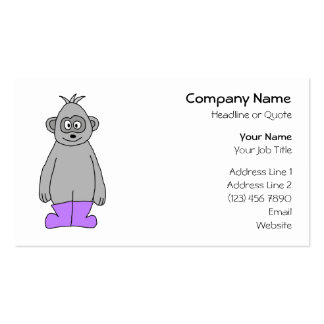 Gorila dos desenhos animados em botas roxas cartões de visitas