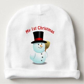 Gorro Para Bebê 2 desenhos animados bonitos dos bonecos de neve do