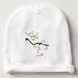 Gorro Para Bebê 7 flores de sakura com 7 pássaros, fernandes tony
