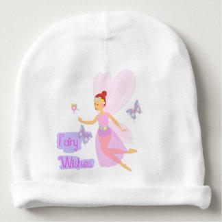 Gorro Para Bebê A fada cor-de-rosa bonito deseja o equipamento do