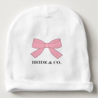 "Gorro Para Bebê A ""NOIVA & os CO personalizam o chapéu cor-de-rosa"