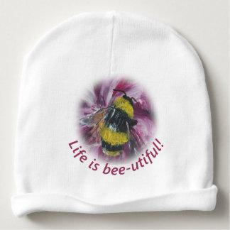 "Gorro Para Bebê A ""vida é beanie do bebê da abelha-utiful"""