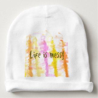 Gorro Para Bebê A vida é listras abstratas desarrumado da pintura