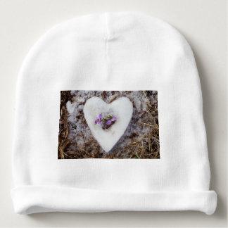 Gorro Para Bebê Açafrão do primavera na fotografia do coração da