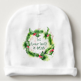 Gorro Para Bebê Aguarelas do Feliz Natal