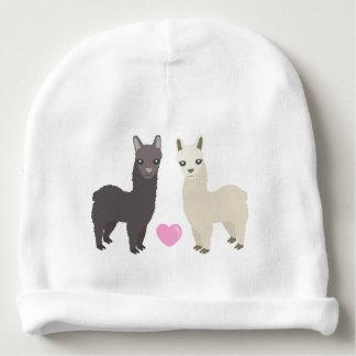 Gorro Para Bebê Alpacas e coração