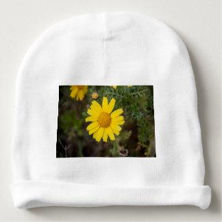 Gorro Para Bebê Amarelo do cu da flor da margarida