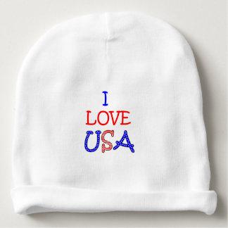 Gorro Para Bebê Amor patriótico EUA de I