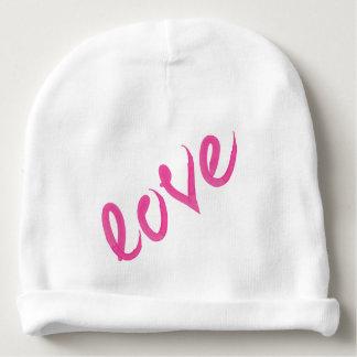 Gorro Para Bebê Amor - roteiro escrito à mão cor-de-rosa brilhante