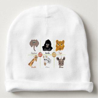 Gorro Para Bebê Animais selvagens