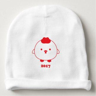 Gorro Para Bebê Ano do chapéu 2017 do Beanie do bebê do galo