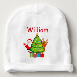 Gorro Para Bebê Árvore de Natal do divertimento com Papai Noel e