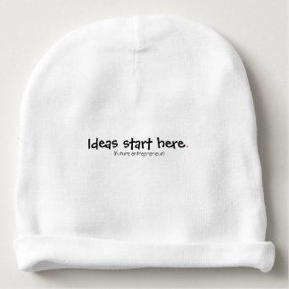 Gorro Para Bebê As ideias começam aqui.  (empresário futuro)