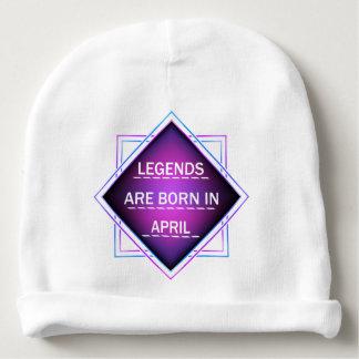 Gorro Para Bebê As legendas são nascidas em abril