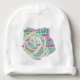 Gorro Para Bebê Aumentou ilustrado com palavra do amor