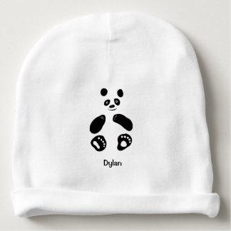 Gorro Para Bebê Azul cor-de-rosa branco do Beanie da panda do bebê
