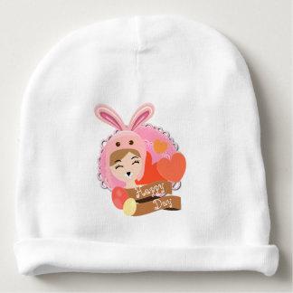Gorro Para Bebê Bailarina do chapéu do coelho, felz pascoa