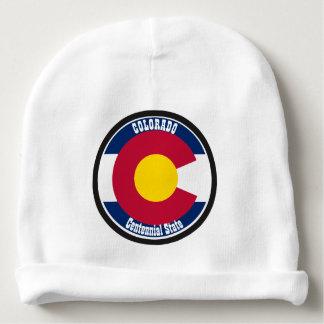 Gorro Para Bebê Bandeira da circular de Colorado