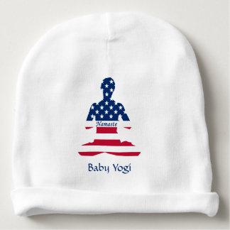 Gorro Para Bebê Bandeira da ioga do americano da meditação dos EUA
