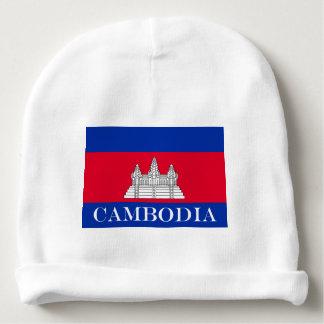 Gorro Para Bebê Bandeira de Cambodia