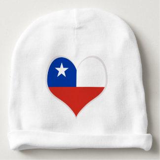 Gorro Para Bebê Bandeira do coração do Chile