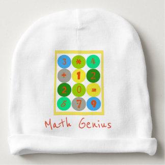 Gorro Para Bebê Beanie da criança do gênio da matemática