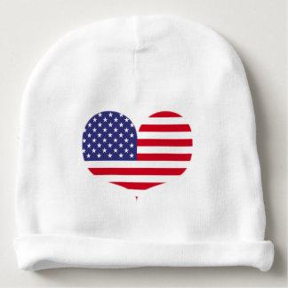 Gorro Para Bebê Beanie dado forma coração do bebê da bandeira